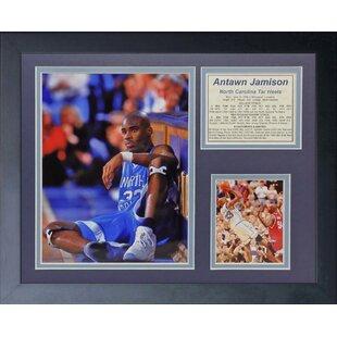 Antawn Jamison - North Carolina Framed Memorabilia By Legends Never Die