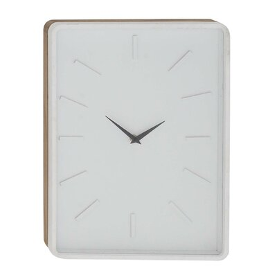 Turn on the Brights Fairview Modern Rectangular Wall Clock Color: White, Size: 16 H x 12 W x 2 D