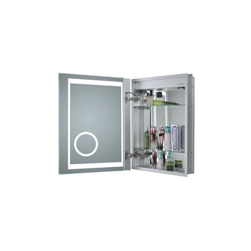 Obryan 16 X 20 Recessed Medicine Cabinet With Led Lighting