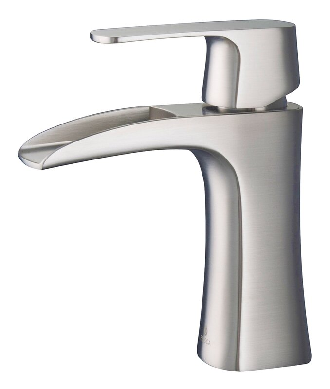 Fresca Fortore Single Hole Waterfall Faucet & Reviews | Wayfair