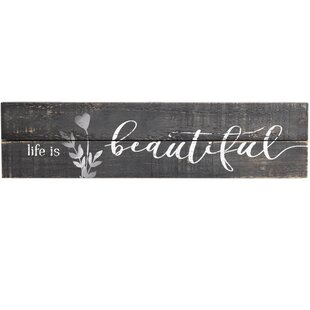 'Beautiful' Over The Door Wall D?cor by Prinz