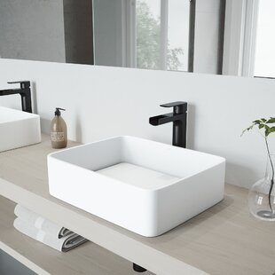 Shopping for Jasmine Stone Rectangular Vessel Bathroom Sink with Faucet By VIGO