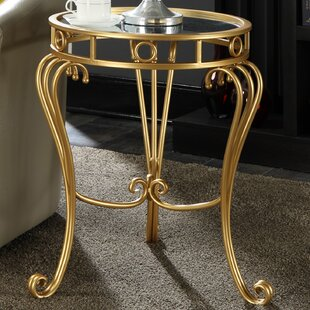 Charleston Decorative Mirrored End Table by Astoria Grand