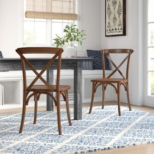 Norma Solid Wood Dining Chair (Set of 2) Mistana