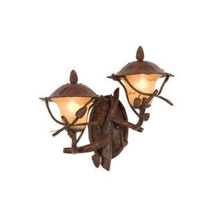 Comparison Ponderosa 2-Light Outdoor Sconce By Kalco