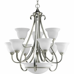 Lilly 9-Light Shaded Chandelier by Fleur De Lis Living