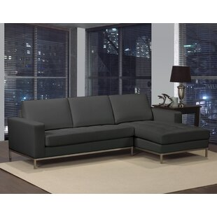 Witney Leather Sectional by Orren Ellis