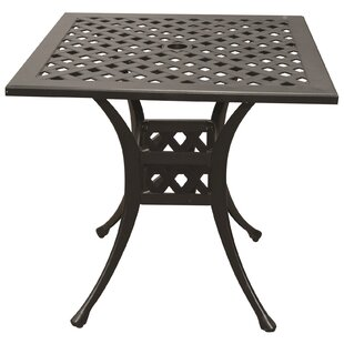 Voss Aluminum Bistro Table by Alcott Hill Comparison