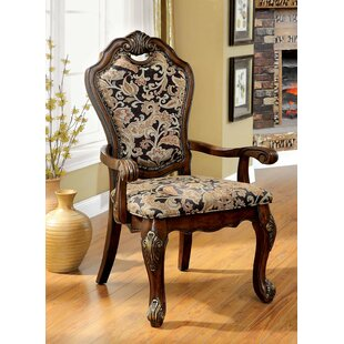 Dufault Upholstered Dining Arm Chair (Set of 2)