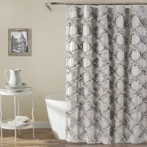 brown and gray shower curtain. Carli Shower Curtain  Gray Silver Curtains You ll Love Wayfair