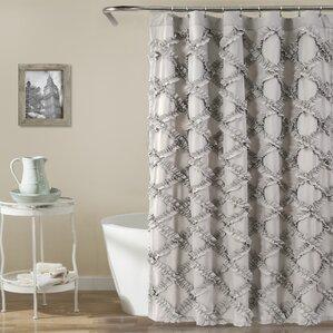 Carli Shower Curtain. Gray