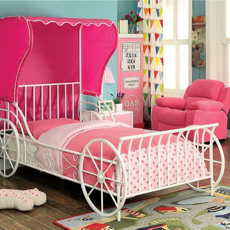 Zoomie Kids Half Moon Bay Novelty Full Slat Bed With Tent Wayfair