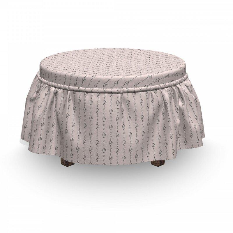 East Urban Home Box Cushion Ottoman Slipcover Wayfair