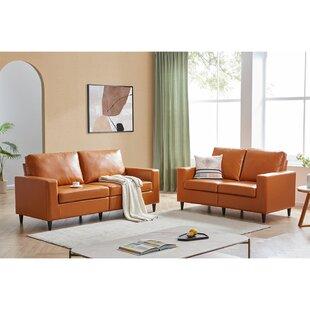 2 Piece Living Room Set, Brown (Set of 2) by Latitude Run