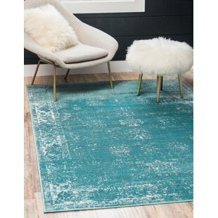 Price Check Brandt Turquoise/White Area Rug By Mistana