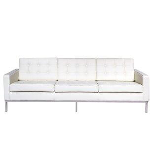 Orren Ellis Gibney Leather Sofa