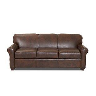 Jennifer Leather Sofa by Wayfair Custom Upholstery™