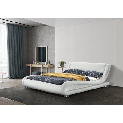 Wade Logan Leavitt Upholstered Platform Bed Size: Queen, Colour: Gold