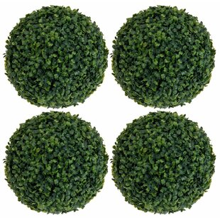 Ball Hanging Boxwood Grass (Set Of 4) By Symple Stuff