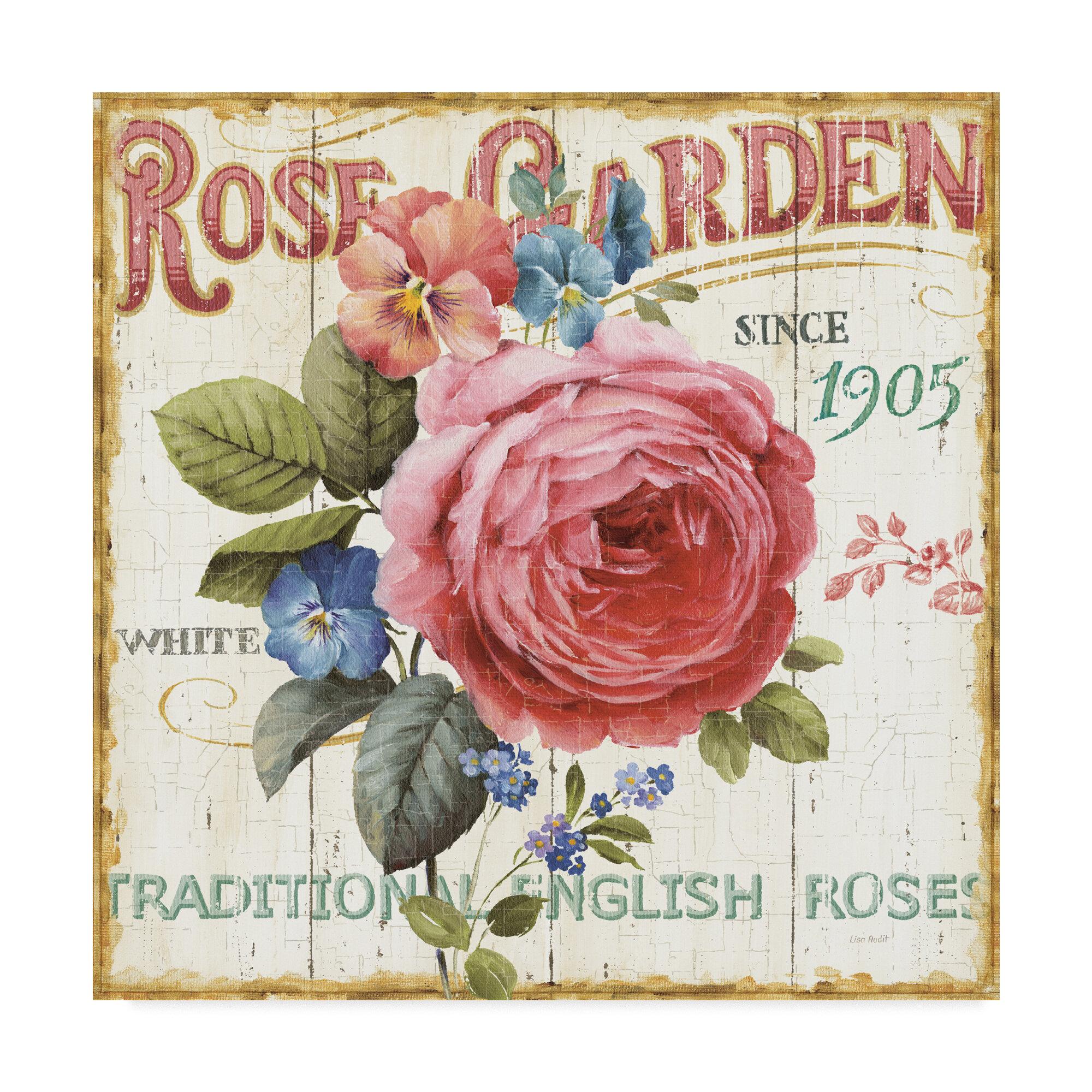East Urban Home Rose Garden I Acrylic Painting Print On Wrapped Canvas Wayfair Ca