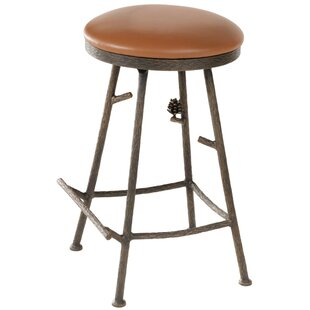 Trawick 25 Swivel Bar Stool Millwood Pines