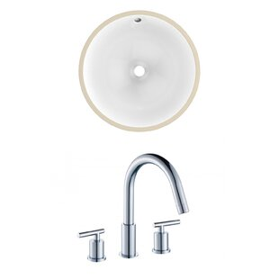 Read Reviews Ceramic Circular Undermount Bathroom Sink with Faucet and Overflow By Royal Purple Bath Kitchen