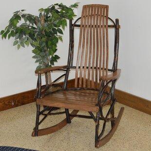 ZanowitZ Hickory Rocking Chair By Loon Peak