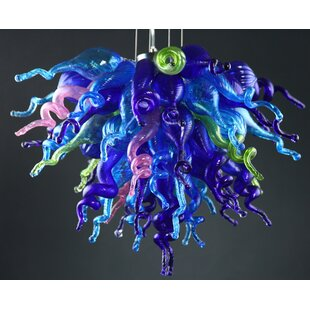 Viz Glass 4-Light Novelty Chandelier
