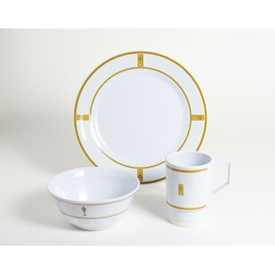 Decorated Fish Melamine 12 Piece Dinnerware Set, Service for 4