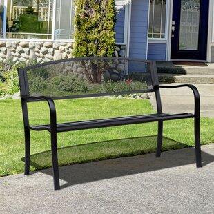 Mariana Steel Garden Bench by Red Barrel Studio