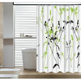 Eleglantly Floral Abstract Single Shower Curtain