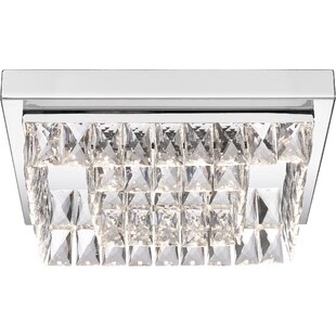 Rosdorf Park Lupo Platinum 1-Light LED Flush Mount