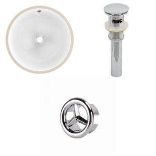 Comparison Ceramic Circular Undermount Bathroom Sink with Overflow By Royal Purple Bath Kitchen