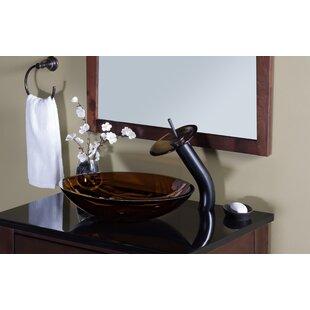 Buy luxury Ovale Glass Oval Vessel Bathroom Sink ByNovatto
