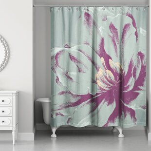 Burbank Graphic Floral I Single Shower Curtain