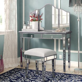 Rosdorf Park Orpha Contemporary Vanity with Mirror