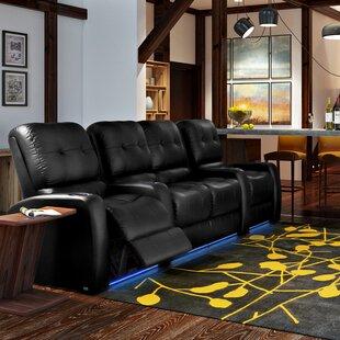 Latitude Run Large LED Flex Light Home Theater Row Seating (Row of 4)