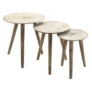 Lovely Charlita Round 3 Piece Nesting Tables