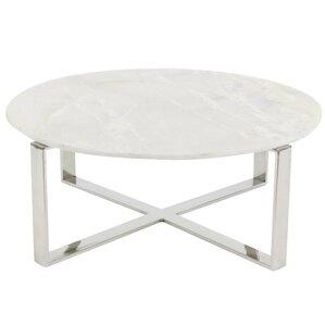 Balke Cross Design Marble Coffee Table