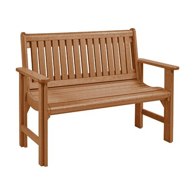 Alanna Plastic Garden Bench Color: Cedar by Beachcrest Home
