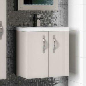 Ultra 50 cm Wandmontierter Waschtisch Apollo mit Schrank