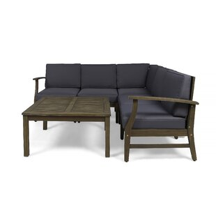 Bridgers Outdoor 6 Piece Sectional Seating Group with Cushions
