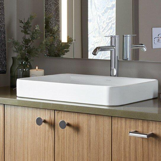 Kohler Vox Vitreous China Rectangular Vessel Bathroom Sink With Overflow Amp Reviews Wayfair Ca