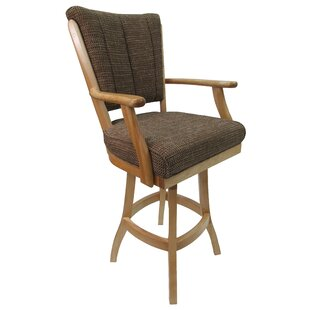 Malchow Classic 30 Swivel Bar Stool Millwood Pines