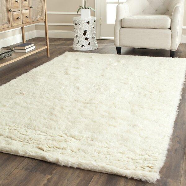 Safavieh Flokati Shag Hand Tufted Wool Ivory Area Rug