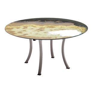 Looking for Etna Round Diagonal Cut Metal Dining Table Great price