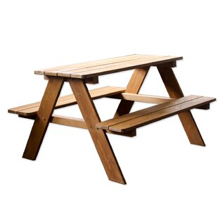 Wood Kids Rectangular Picnic Table