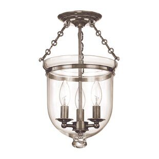 Williamsburg Hampton 3-Light Semi Flush Mount by Hudson Valley Lighting