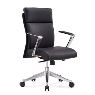 Ensor Genuine Leather Conference Chair by Orren Ellis Modern
