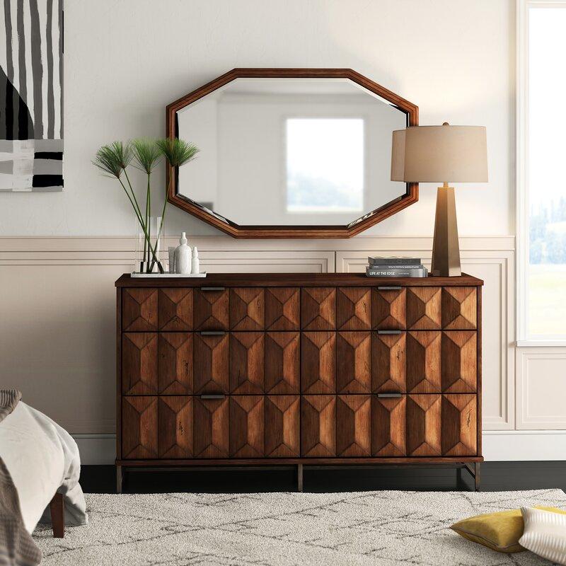 Mercury Row Mccaskill 6 Drawer Double Dresser With Mirror Reviews Wayfair